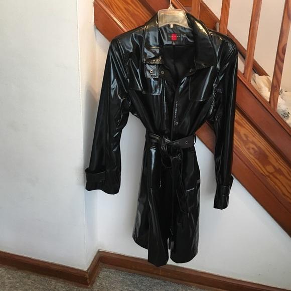 4bd0baf069ba Jackets   Blazers - Black patent leather trench coat
